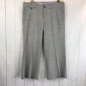 Anthro Pilcro & the Letterpress Gray Crop Trousers